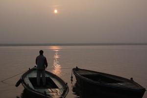ガンジス河の朝日